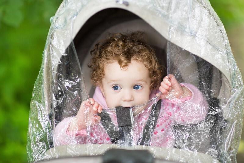 Аксессуары для детской коляски дождевик