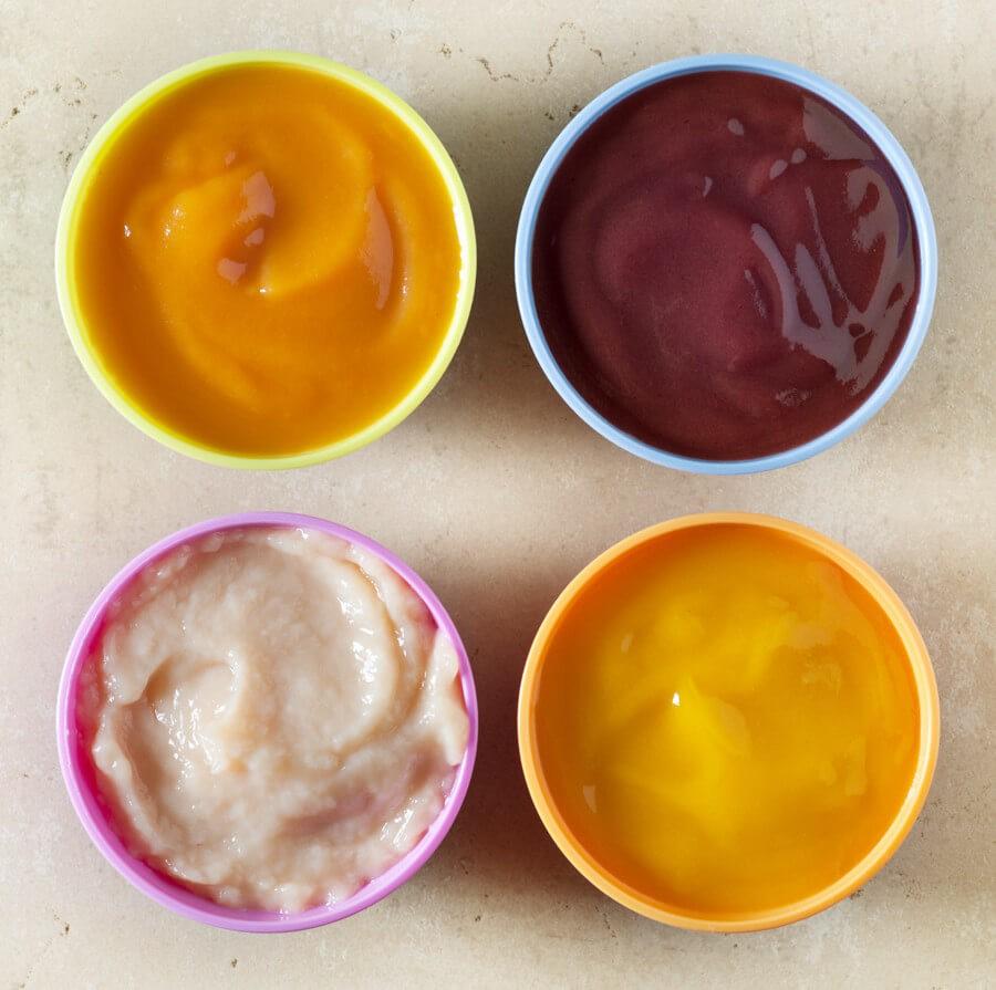 фруктовое и овощное пюре малышам