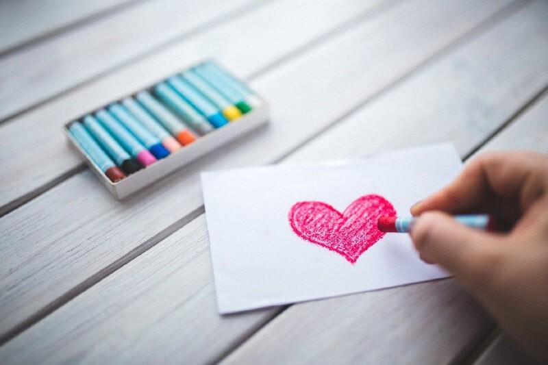 Тема волонтерства рисунок с сердцем