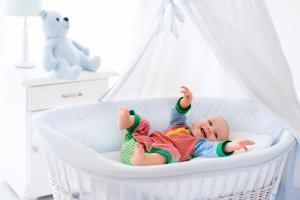 Кроватка с балдахином для маленьких детей