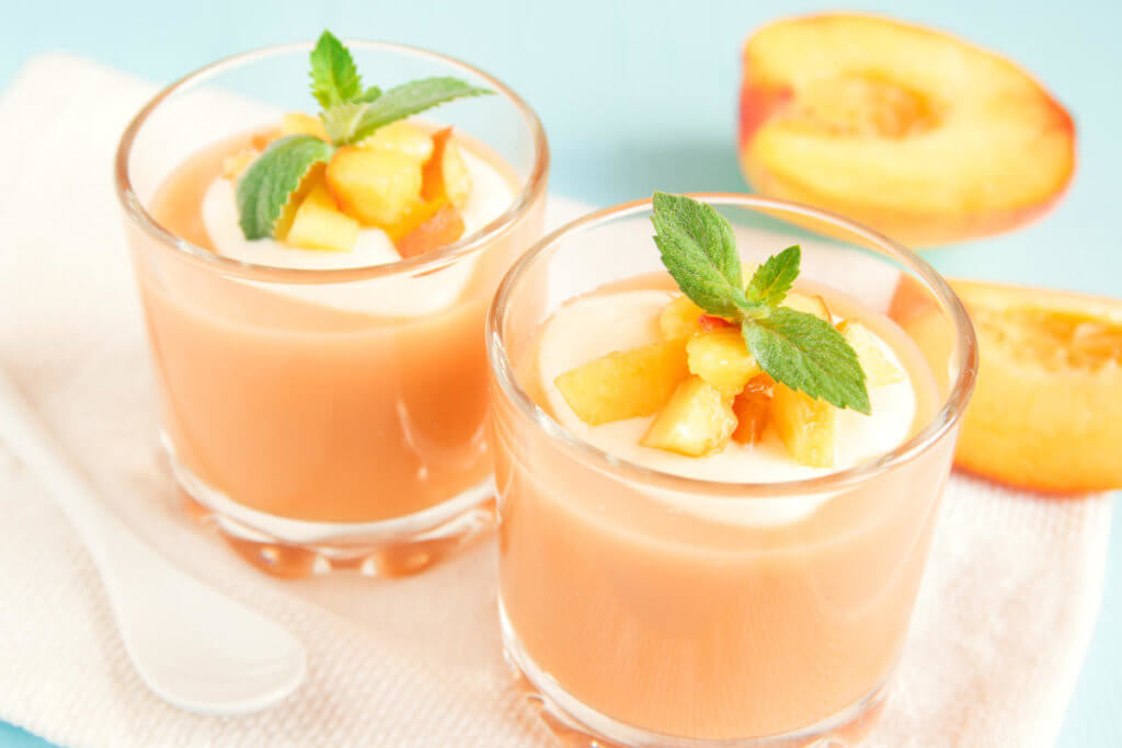 смузи с персиком