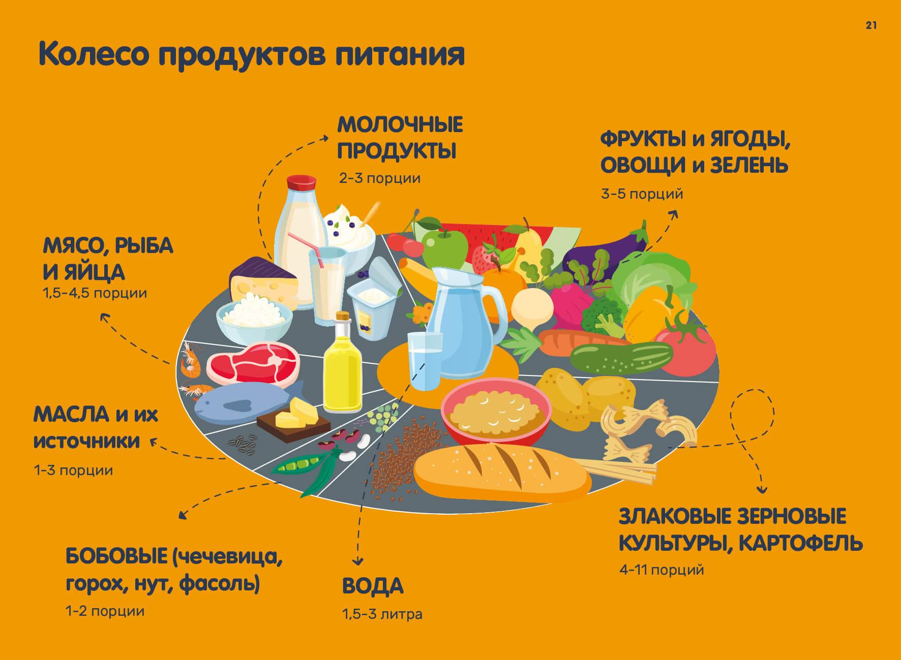 колесо продуктов питания
