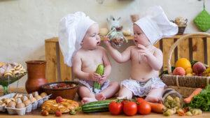 малыши и овощи